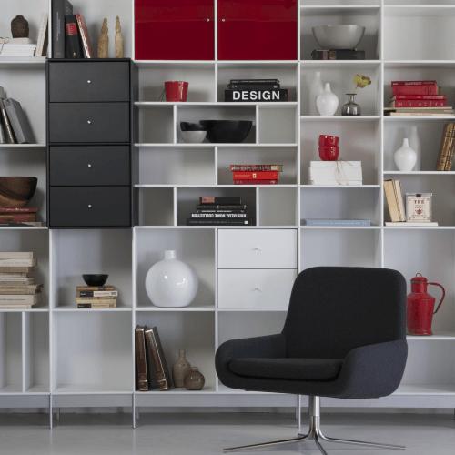 Moderne boekenkast met deuren lundia oldenzaal - Moderne boekenkast ...