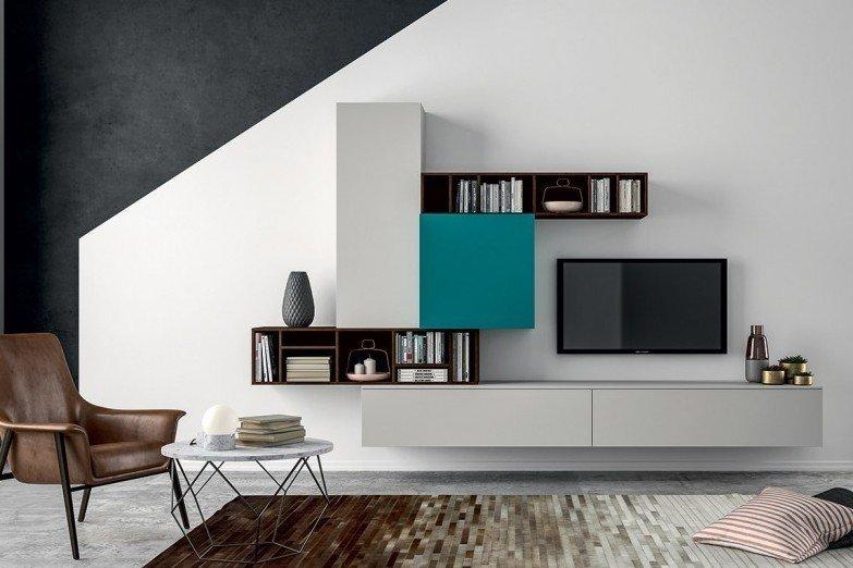 Tv Meubels Hangend: Lomini compact zwevend tv meubel in hoogglans of ...