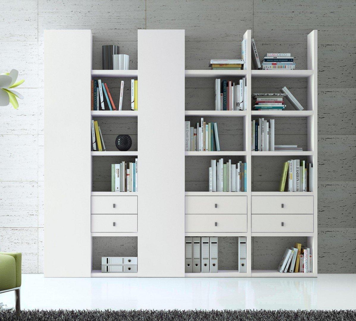witte boekenkast met laden lundia oldenzaal uw kast op. Black Bedroom Furniture Sets. Home Design Ideas