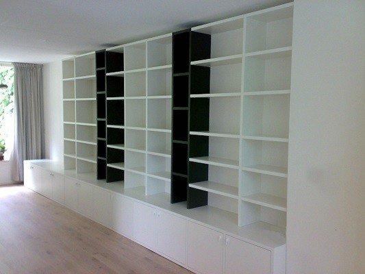 lundia boekenkast met tv dressoir