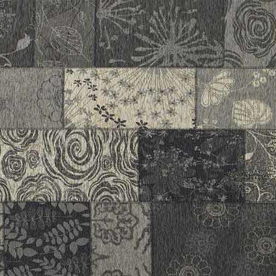 patchwork vloerkleed mirage 24 donker grijs