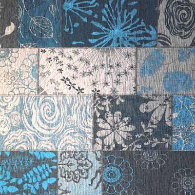 patchwork vloerkleed mirage 34 blauw