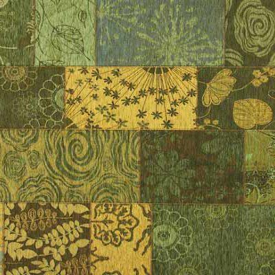 patchwork vloerkleed mirage 54 groen