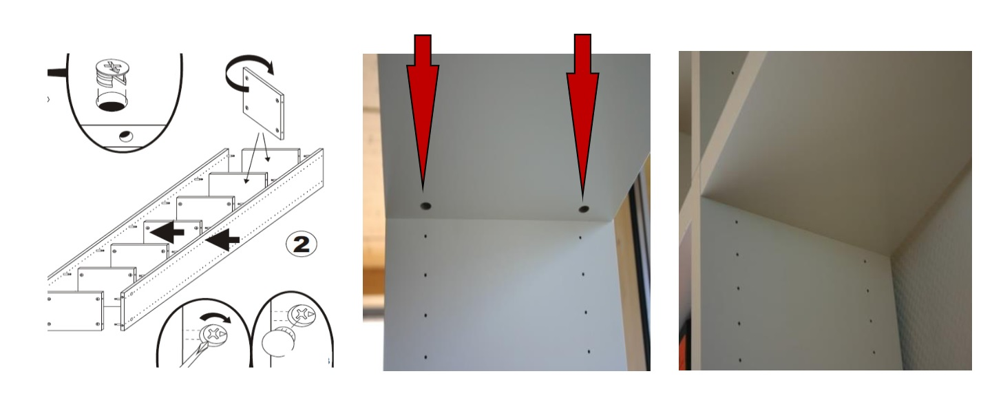 Het boekenkast systeem Cube is eenvoudig te monteren