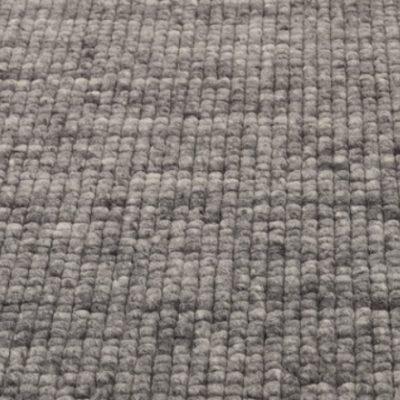 Wollen vloerkleed Royaldot 21 grijs