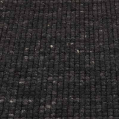 Wollen vloerkleed Royaldot 24 donker grijs
