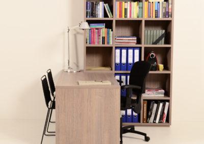 Thuiswerkplek eiken grijs met duo werkplek