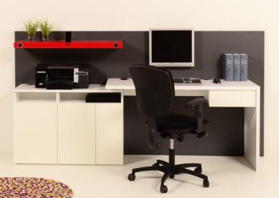Thuiswerkplek buro modern met ordnerkast