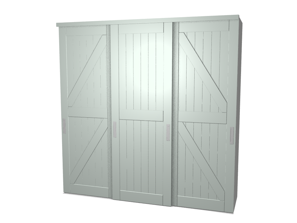 Raffito inbouw kledingkast met barn stijldeuren