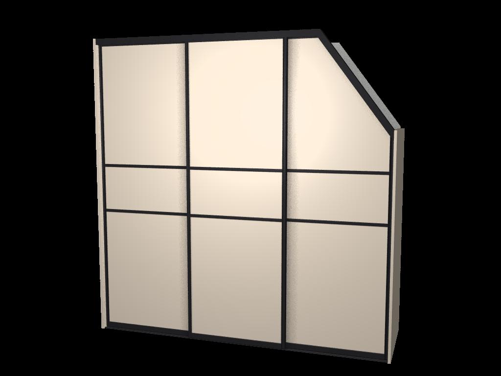 Raffito inbouw kledingkast met klassieke schuifdeuren