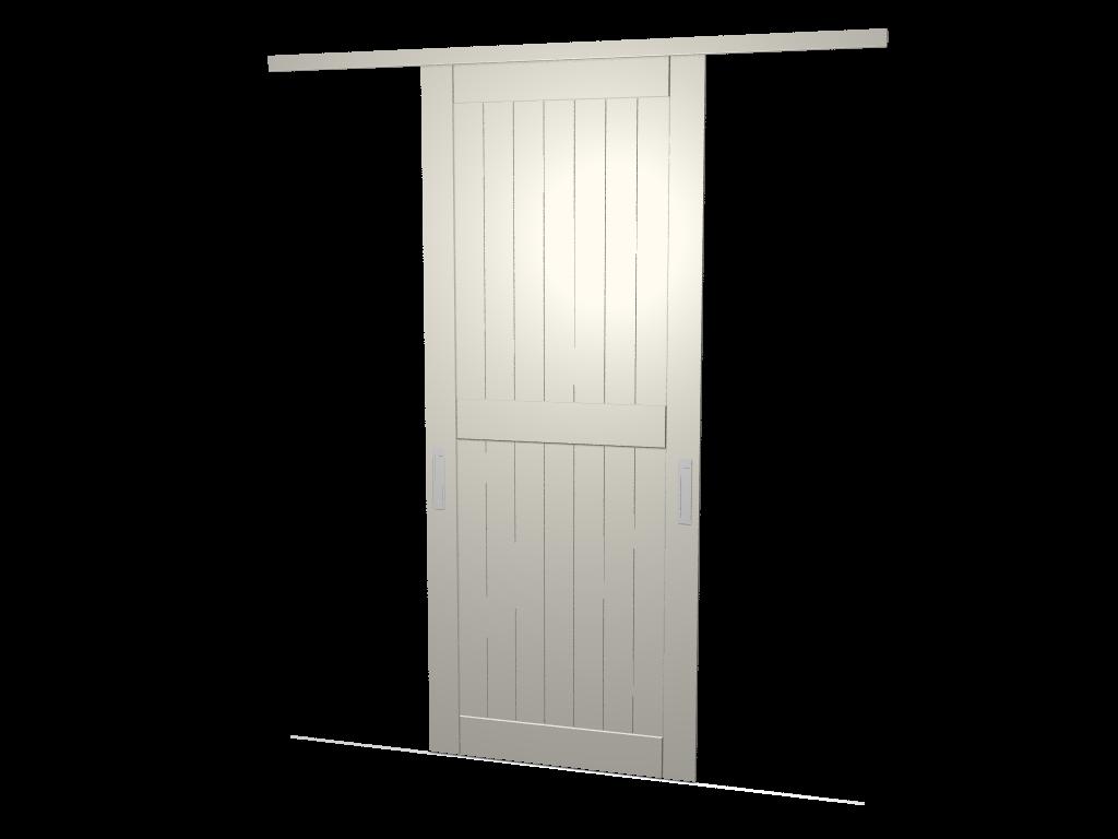 Raffito hoekkast met barndeuren