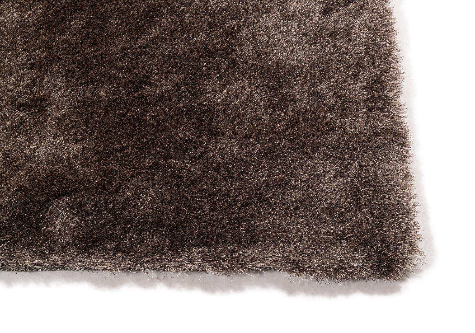 luxury bruin/taupe vloerkleed hoek