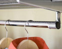 Wandrailsysteem elfa kastinrichting hangroede chroom voor uwkastopmaat