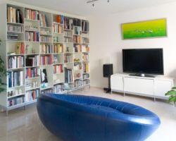 Qudrant boekenkast op pootjes by ABC Reoler