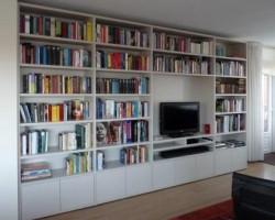 Boekenkast op maat met Tv unit