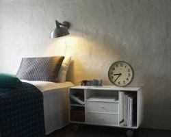 ABC Reoler Quadrant nachtkastje op wielen wit