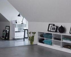 ABC Reoler Quadrant dressoir op wielen wit