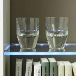 glasschap met LED