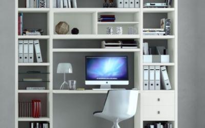 boekenkast met buro
